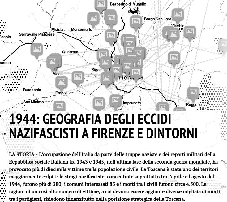 """""""1944: Geografia degli eccidi nazifascisti a Firenze e dintorni"""", una mappa navigabile per conoscerli uno ad uno"""