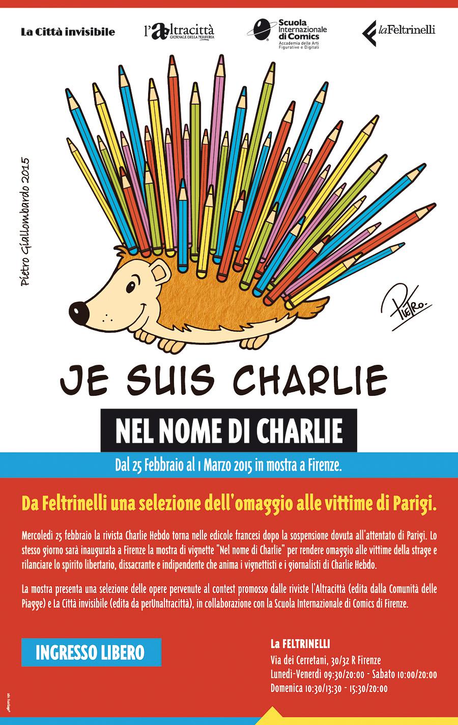 """Nel nome di Charlie"", dal 25 febbraio in mostra da Feltrinelli a Firenze"
