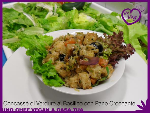 Concassé di Verdure al Basilico con Pane Croccante