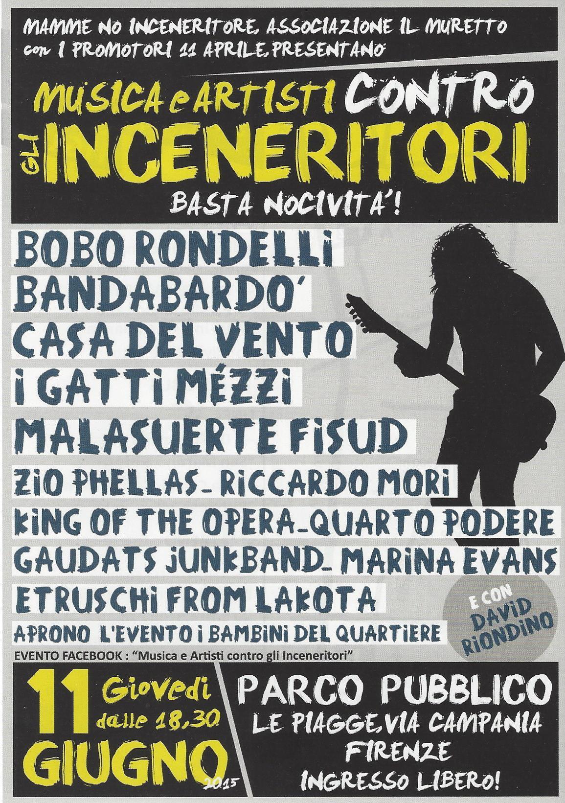L'eco-concerto dell'11 giugno alle Piagge