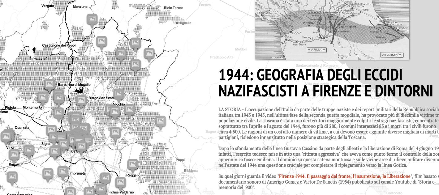 A 71 anni dalla Liberazione la mappa con gli eccidi nazifascisti a Firenze e dintorni