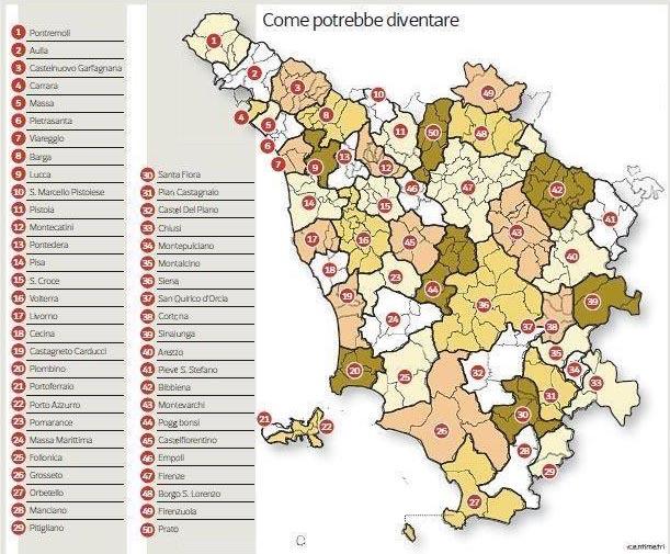 Toscana: la fusione dei Comuni è antidemocratica e antistorica