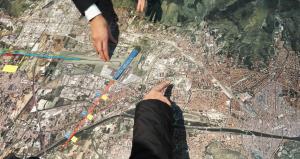 Il plastico di Toscana Aeroporti che non rappresenta i voli rumorosi per i fiorentini.
