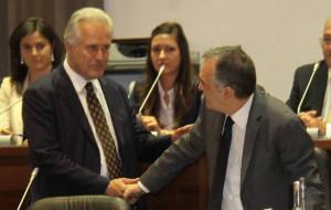 I presidenti della Toscana: Eugenio Giani (Consiglio) ed Enrico Rossi (Giunta)