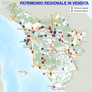 Mappa beni in vendita
