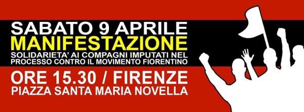 Il 9 aprile in piazza a Firenze per la solidarietà