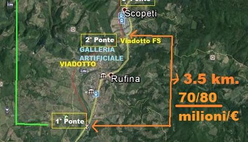 Stop al bypass faraonico della Rufina. La priorità è l'anello ferroviario Firenze-Valdisieve-Mugello