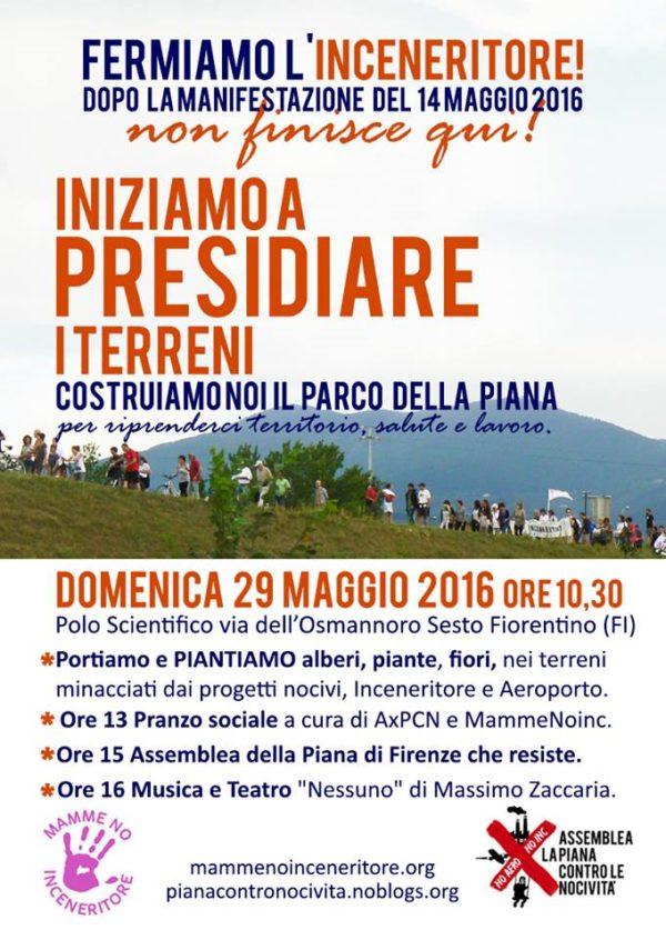 Il 29 maggio si presidiano i terreni nella Piana