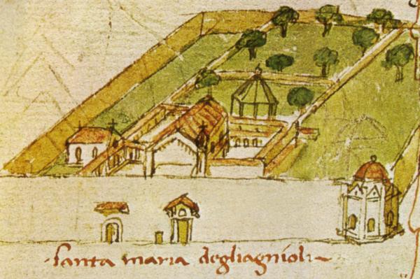 Brunelleschi, la piazza rapita. La Biblioteca Umanistica, il parcheggio, la Cassa di Risparmio, i cittadini e un ex grande Convento