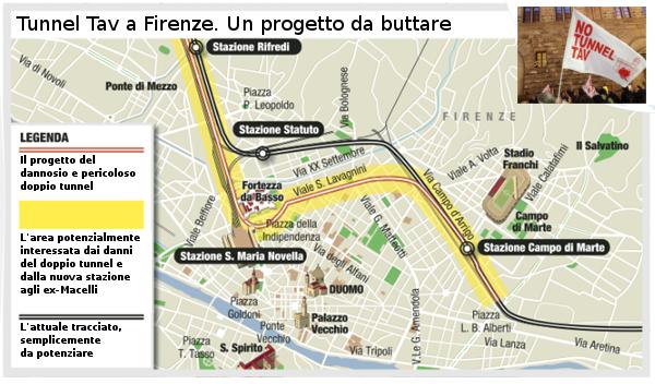 A Firenze il tunnel Tav è morto