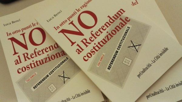 """Attivati per il NO con la diffusione militante del libro """"In otto punti le ragioni del NO al Referendum"""""""