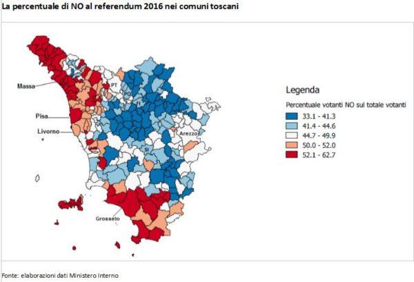 Il voto referendario nel cuore dell'Impero: il caso Toscana