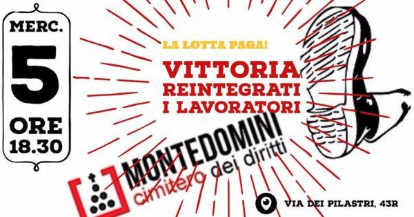 Reintegro pieno per i lavoratori di Montedomini: una vittoria per tutti!