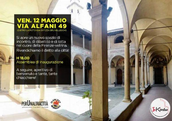 Apre InKiostro nel cuore di Firenze: ci riprendiamo la città. 12 Maggio inaugurazione