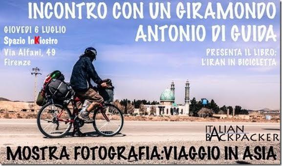 L'Iran in bicicletta: incontro con Antonio Di Guida - 6 luglio