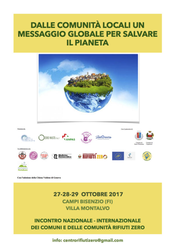 A Campi 27-29 ottobre i comuni Rifiuti Zero italiani e stranieri