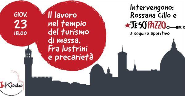 Turismo, il 23 novembre allo Spazio InKiostro: Il lavoro nel tempio del turismo di massa. Fra lustrini e precarietà