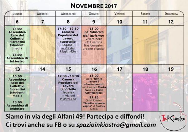 Spazio InKiostro - Il calendario dal 6 al 19 novembre
