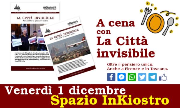 A cena con La Città invisibile. Vieni anche tu il 1° dicembre?