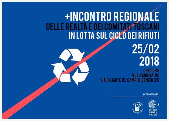 Incontro Regionale dei Comitati in lotta sul ciclo dei Rifiuti: il 25/2 a Villa Montalvo