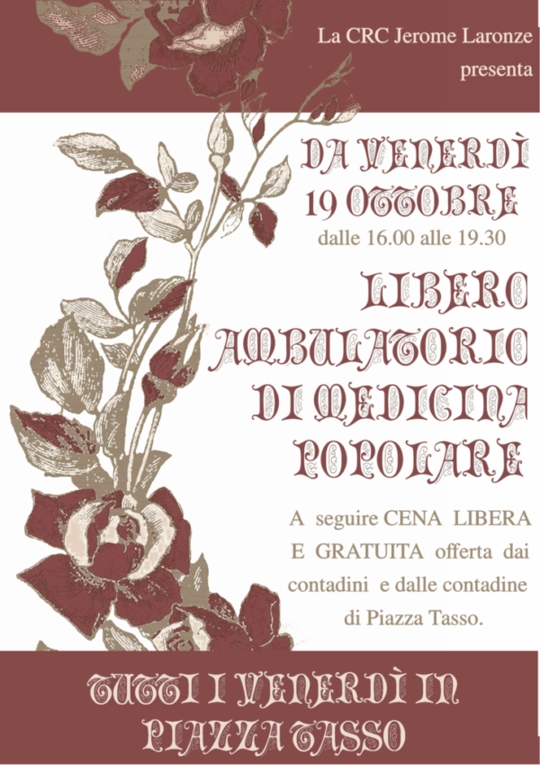 """Nasce il """"Libero ambulatorio di medicina popolare"""" in Piazza Tasso a Firenze"""
