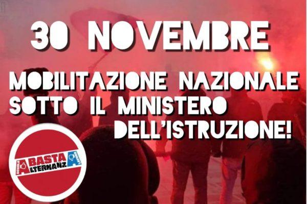 Conquistiamo il futuro, riprendiamoci la scuola pubblica. Corteo nazionale studenti e lavoratori il 30 novembre