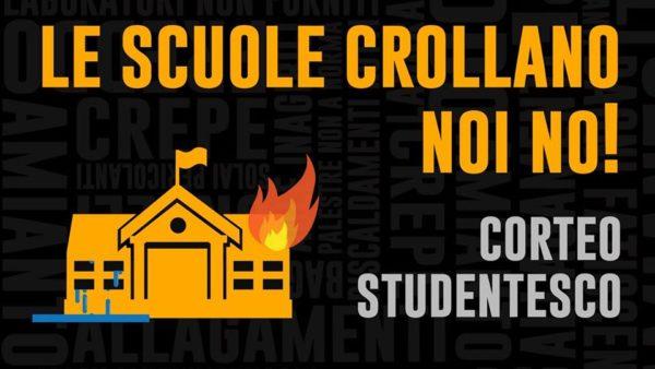 Le scuole crollano, noi no. Corteo studentesco a Firenze