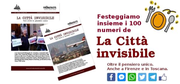 15.000 grazie ai lettori (mensili) de La Città invisibile. Il 26 febbraio festeggiamo insieme i primi 100 numeri