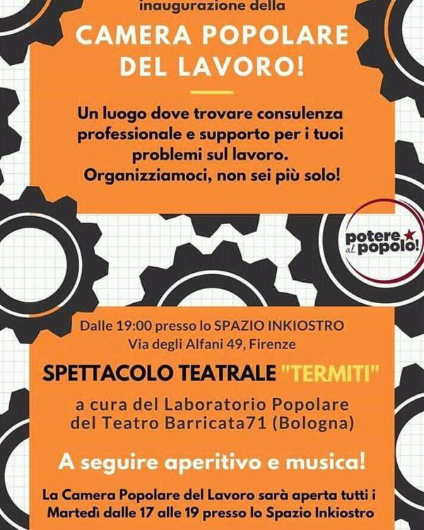 Apre la Camera popolare del lavoro anche a Firenze. Appuntamento l'8 febbraio