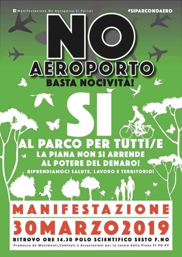 No Aeroporto! Basta nocività! il 30 marzo si manifesta nella Piana