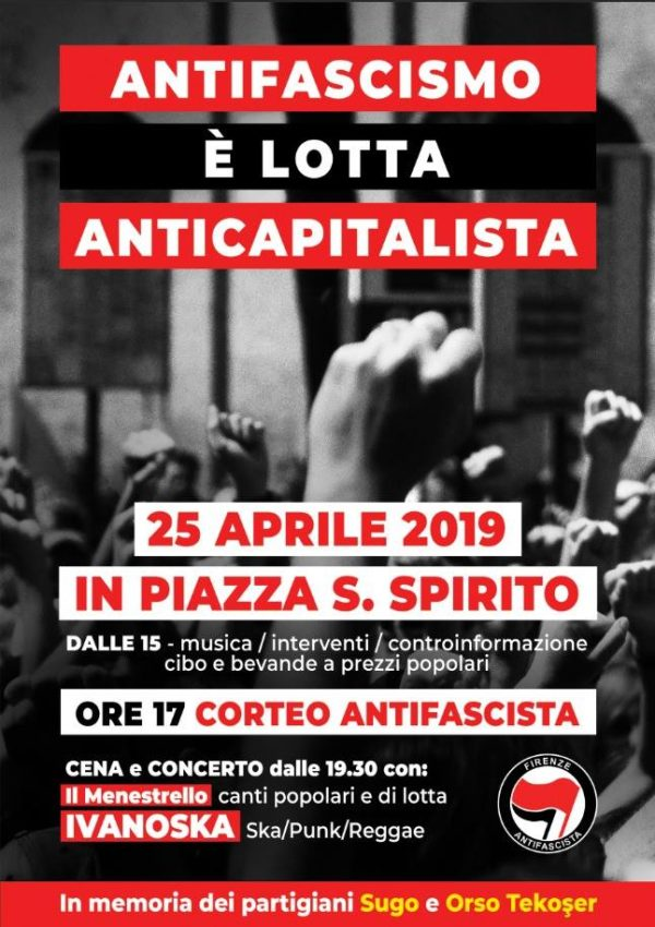 Il 25 aprile in piazza Santo Spirito, viva la Brigata Sinigaglia!