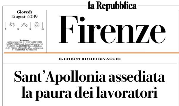 """""""Cara Repubblica..."""", la Polveriera scrive alla redazione del giornale fiorentino"""