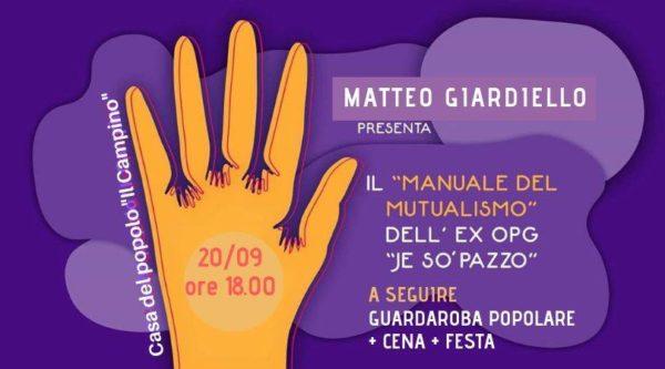 """Il """"Manuale del mutualismo"""" arriva a Firenze, il 20 settembre alla Casa del popolo Il Campino"""