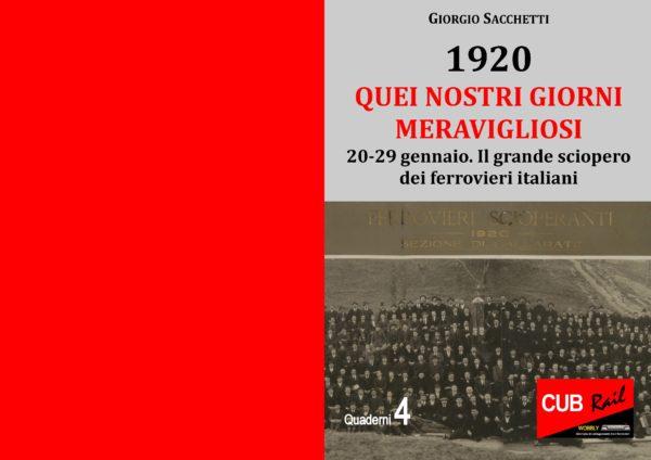 Gennaio 1920: il grande sciopero dei ferrovieri italiani