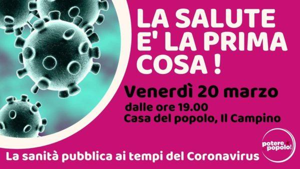 La salute è la prima cosa. La sanità ai tempi del coronavirus