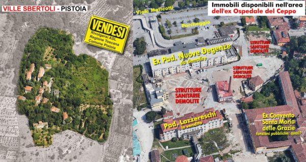 Appello per il riuso del patrimonio sanitario pubblico di Pistoia, abbandonato e in vendita