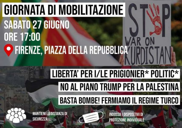 Sabato 27 giugno in Piazza della Repubblica, giornata di solidarietà internazionale