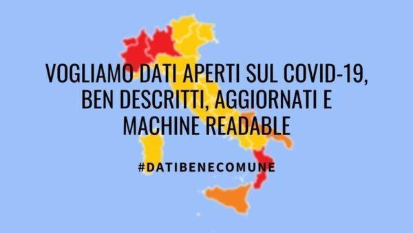 Covid-19, tutti i dati siano trasparenti. Aderisci alla campagna #datiBeneComune