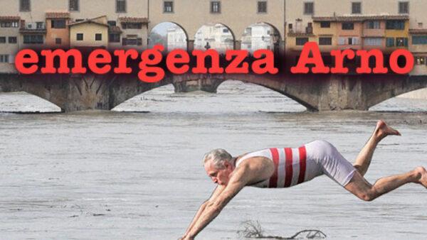 """Arno oltre il livello di guardia. Il presidente: """"Stop balneazioni. Superata la terza riga rossa del mio costume"""""""